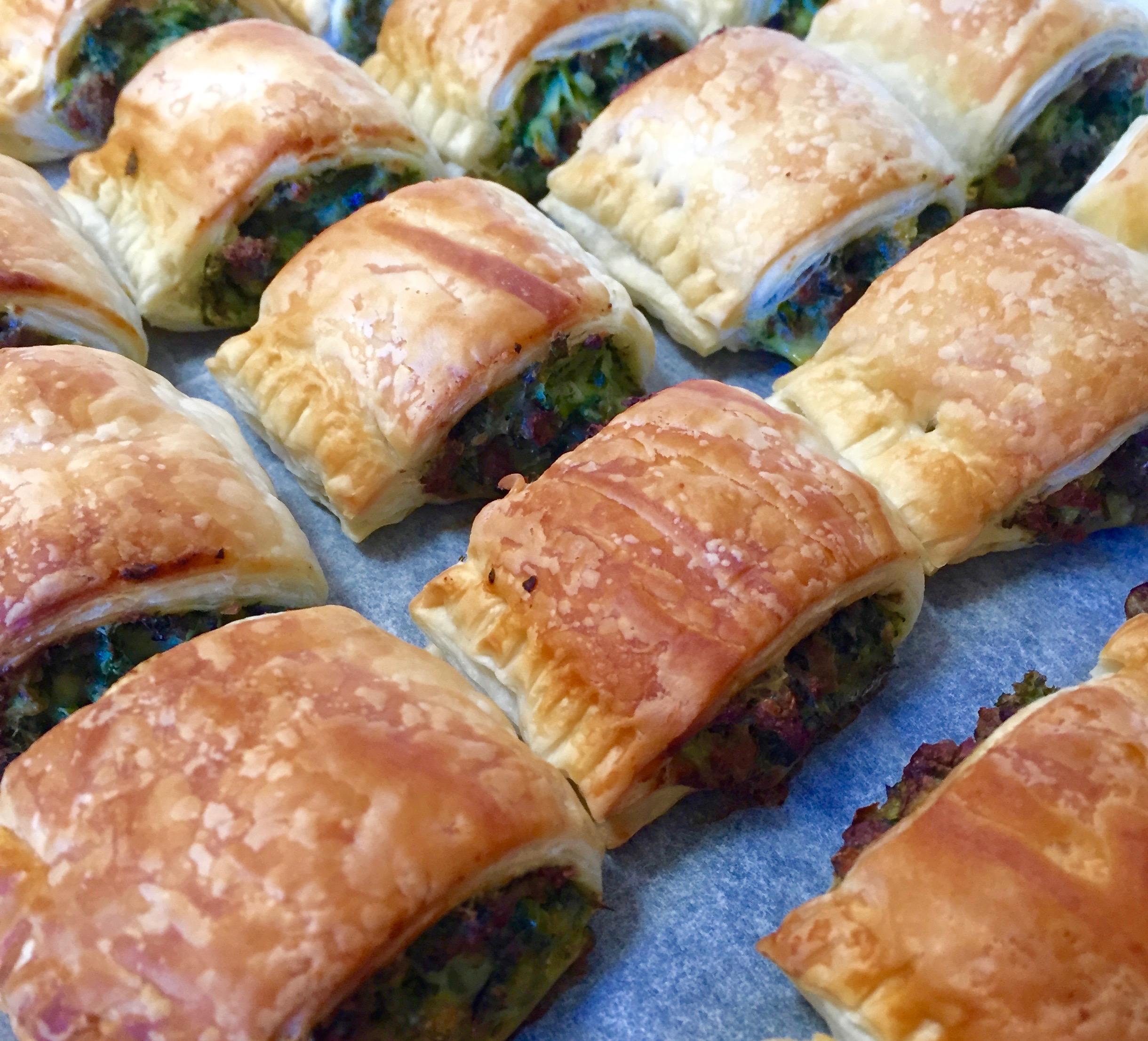 Green Lamb Sausage Rolls