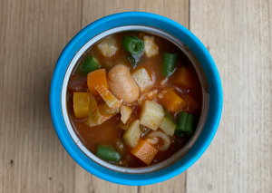 Minestrone Soup for School Lunches